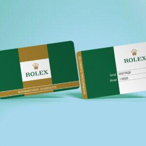 PVC GUARANTEE CARDS